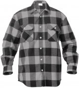 Rothco Buffalo Plaid Flannel Shirt Grey 4690