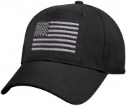 Rothco U.S. Flag Low Profile Cap Black 8978