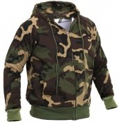 Rothco Thermal Lined Hooded Sweatshirt Woodland Camo - 6262