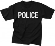 Rothco 2-Sided Police T-Shirt Black 6612