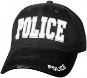 Rothco Deluxe Police Low Profile Cap Black 9383