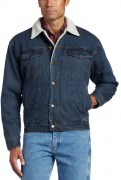 Wrangler Men's Sherpa Lined Denim Jacket Rustic