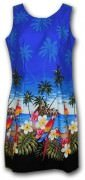 Pacific Legend Hawaiian Tank Dress - 360-3468 Blue