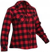 Rothco Womens Plaid Flannel Shirt Red 55739