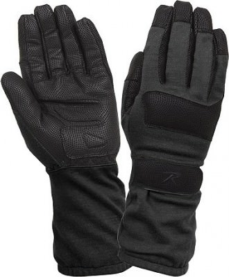 Rothco Fire Resistant Griplast Military Gloves Black 4421, фото