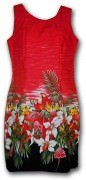 Pacific Legend Hawaiian Tank Dress - 360-3406 Red