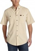 Wrangler Men's RIGGS Workwear® Chambray Work Shirt Natural
