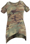 Rothco Womens Camo Cold Shoulder Top  Woodland Camo 4610
