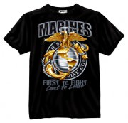 Футболка Black Ink® Printed T-Shirt - Black (Marines First To Fight Globe & Anchor)