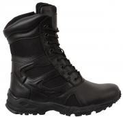 "Rothco Forced Entry Deployment Boots 8"" - Black / Side Zipper # 5358"