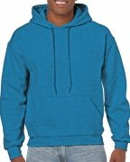 Gildan Mens Hooded Sweatshirt Antique Sapphire