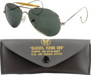 Rothco Aviator Air Force Style Sunglasses Green Lenses 10200