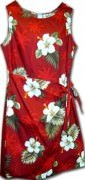 Pacific Legend Hawaiian Sarong Dress - 313-2798 Red