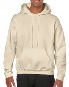 Gildan Mens Hooded Sweatshirt Sand