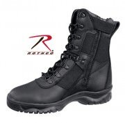 "Rothco Forced Entry Tactical Boot 8"" - Black / Side Zipper # 5053"