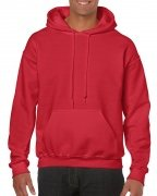 Gildan Mens Hooded Sweatshirt Red