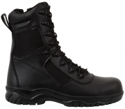 "Rothco Forced Entry Tactical Boot 8"" - Black / Side Zipper & Composite Toe # 5063"