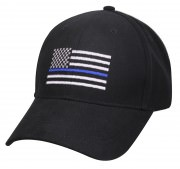 Rothco Thin Blue Line Flag Low Profile Cap Black 99885
