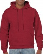 Gildan Mens Hooded Sweatshirt Antique Cherry Red