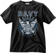 Футболка Black Ink® Printed T-Shirt - Black (Navy Emblem)