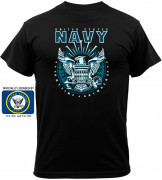Black Ink Black Navy Emblem T-Shirt 80210