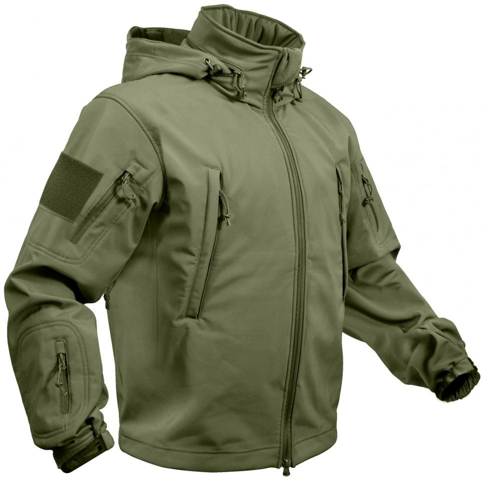 64f3c832 Мембранная куртка Rothco Special Ops Tactical Soft Shell Jacket Olive Drab  - 9745 - Куртка тактическая