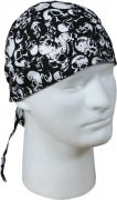 Бандана Military Headwrap - Black w/ Skulls