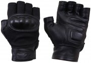 Rothco Hard Knuckle Fingerless Gloves Black - 5363