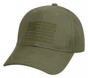 Rothco U.S. Flag Low Profile Cap Olive 99880