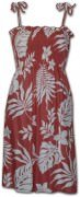 Pacific Legend Rayon Tube Dress - 708-107 Salmon