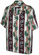 Men's Hawaiian Shirts Allover Prints 410-2750 Red