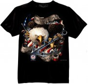 Футболка Black Ink® Printed T-Shirt - Black (U.S. Navy Don't Tread On Me)