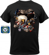 Black Ink U.S. Navy Eagle T-Shirt 80315