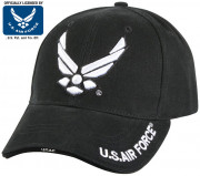 Rothco Deluxe U.S. Air Force Wing Low Profile Insignia Cap Black 9384