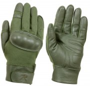 Rothco Flame and Heat Resistant Hard Knuckle Tactical Gloves Olive Drab - 3417