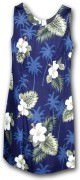 Pacific Legend Hawaiian Short Tank Dress - 315-2798 Navy