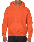 Gildan Mens Hooded Sweatshirt Orange