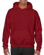 Gildan Mens Hooded Sweatshirt Cardinal Red