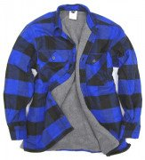 Rothco Extra Heavyweight Buffalo Plaid Sherpa-lined Flannel Shirt Blue 3739