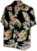 Men's Hawaiian Shirts Allover Prints 410-3743 Black