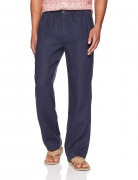 28 Palms Relaxed-Fit Linen Pant with Drawstring Blue Night