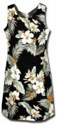 Pacific Legend Hawaiian Short Tank Dress - 315-2820 Black