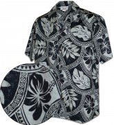 Men's Hawaiian Shirts Allover Prints - 410-3836 Charcoal