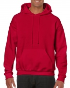 Gildan Mens Hooded Sweatshirt Cherry Red