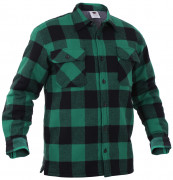 Rothco Extra Heavyweight Buffalo Plaid Sherpa-lined Flannel Shirt Green 3735