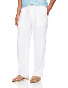 28 Palms Relaxed-Fit Linen Pant with Drawstring Bright White