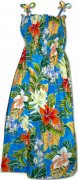Pacific Legend Hawaiian Tube Dress 332-3799 Blue
