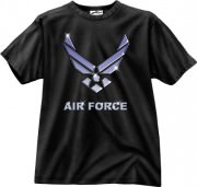 Футболка Black Ink® Printed T-Shirt - Black (Air Force Logo)