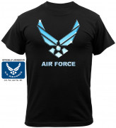 Black Ink Black Air Force T-Shirt 80255