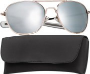 Rothco G.I. Type Aviator Sunglasses 52mm Gold Frame / Mirror Lenses 10604